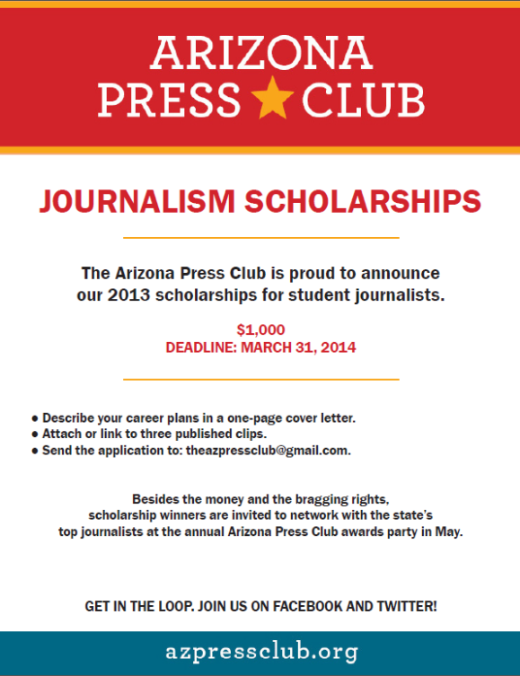 Press Club scholarship flier